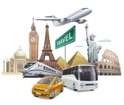 Affisch transport och resa