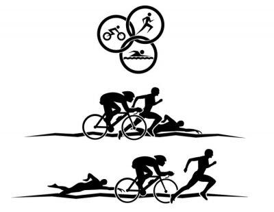 Affisch triathlon
