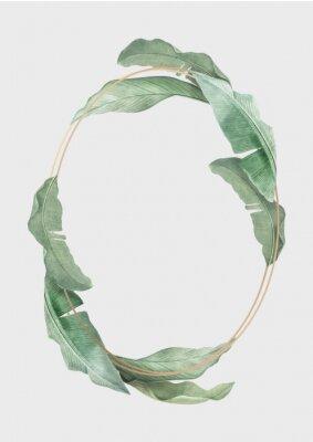 Affisch Tropical leaves frame
