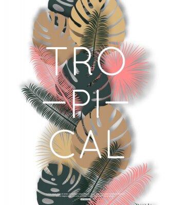 Affisch Tropisk design för banner, affisch. Vektor illustration.