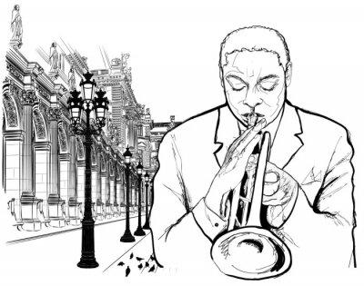 Affisch Trumpetaren i Paris