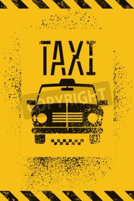 Affisch Typografisk graffiti retro grunge taxi affisch. Vektor illustration.