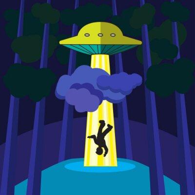 Affisch UFO för bort en person