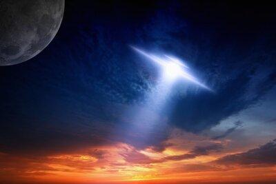 Affisch Ufo i sky