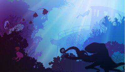 Affisch under vattnet