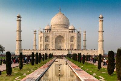 Affisch Unescos världsarvslista av Taj Mahal, Agra, Rajasthan, Indien
