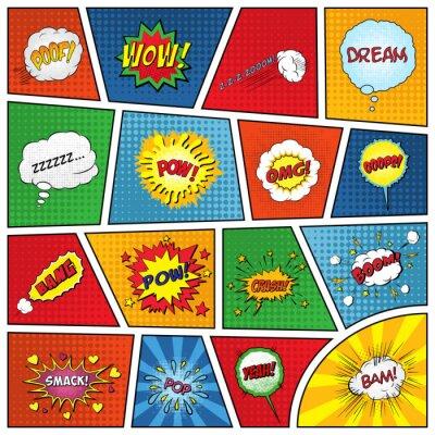 Affisch Uppsättning av komiska ljudeffekter