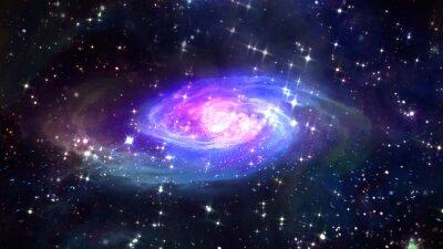Affisch utrymme blå galax i utrymmet.