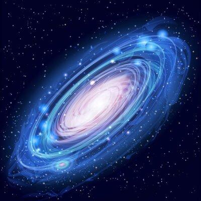 Affisch Vacker glödande Vector Andromedagalaxen