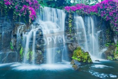 Affisch Vackra Blå vattenfall i Hawaii