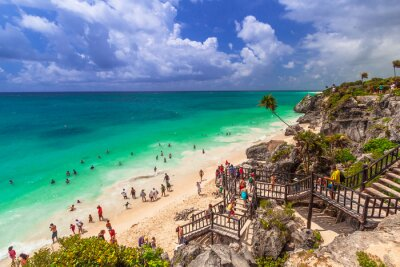 Affisch Vackra stranden Tulum i Mexiko