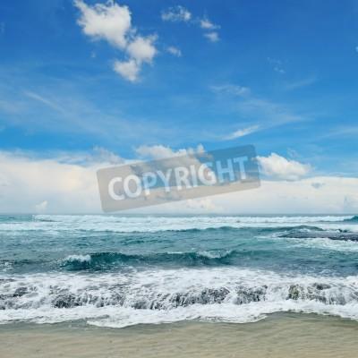 Affisch vackra vågor i havet