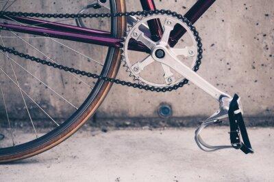 Affisch Väg cykel och betongvägg, urban scen vintagestil