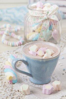 Affisch Varm choklad med marshmallows