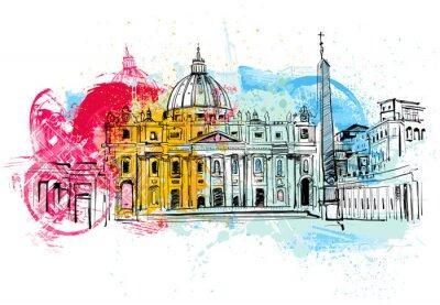Affisch Vatikan skissar