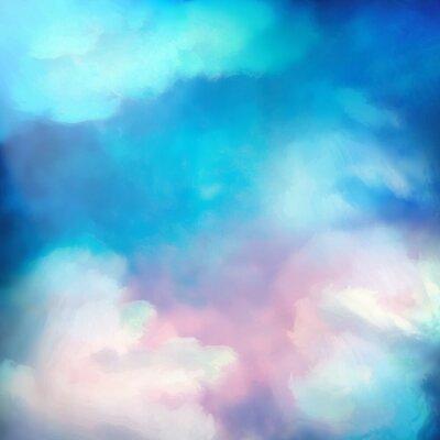 Affisch Vattenfärg Sky målning Vector Bakgrund