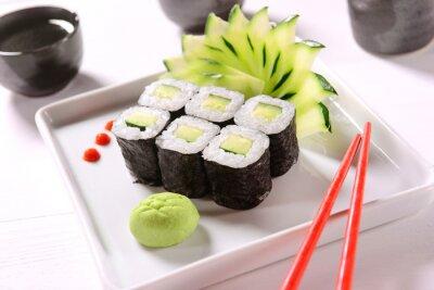 Affisch vegan sushi