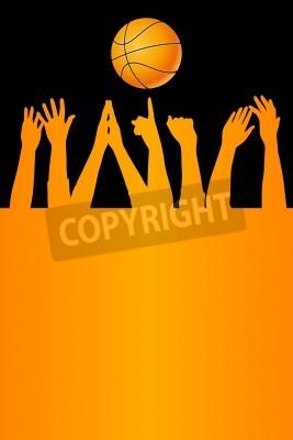 Affisch Vektor basket bakgrund