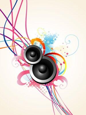 Affisch vektor högtalare konst