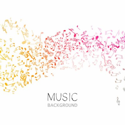 Affisch Vektor Illustration av en abstrakt bakgrundsmusik