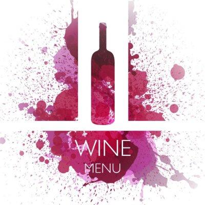 Affisch Vektor Illustration av vin designmall
