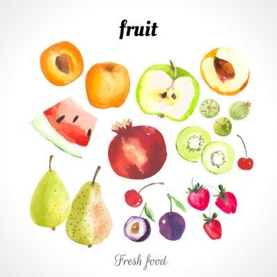 Affisch Vektor Illustration med vattenfärg mat.