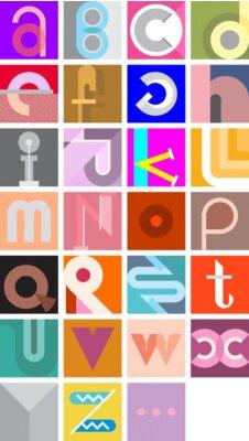 Affisch Vektor Sammanfattning Font