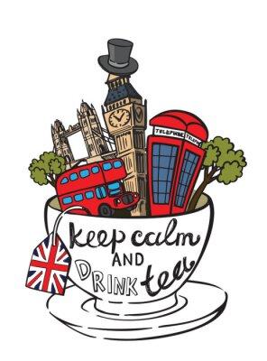 Affisch vektor Storbritannien