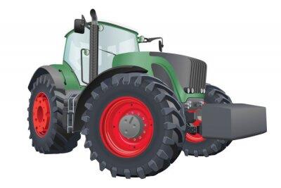 Affisch vektor traktor