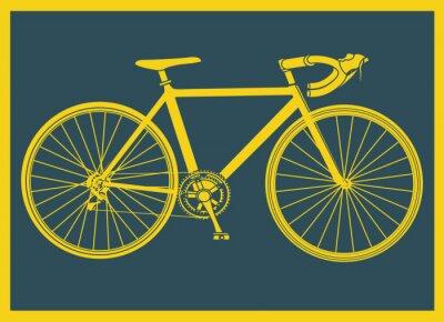 Affisch Vélo de naturligtvis pop