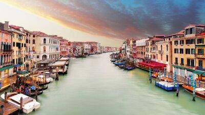 Affisch Venedig - Canal Grande från Rialtobron