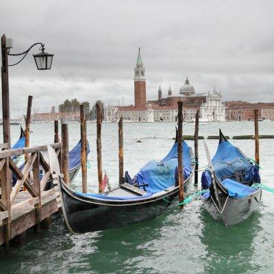 Affisch Venedig på mulen dag