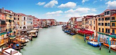 Affisch Venedig - Rialtobron och Canal Grande