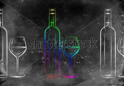Affisch Vin const illustration