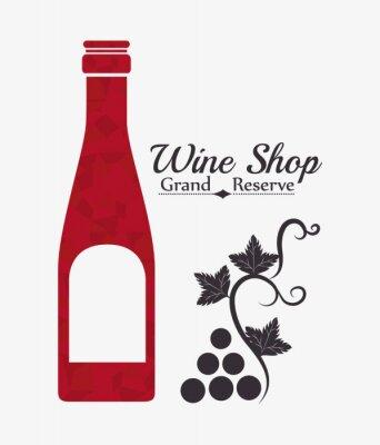 Affisch Vin digital design.