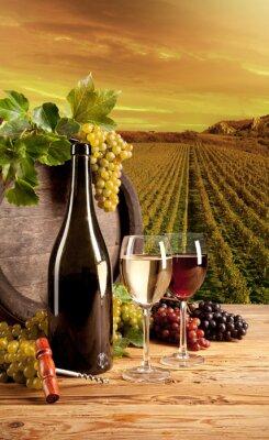 Affisch Vin i vingården
