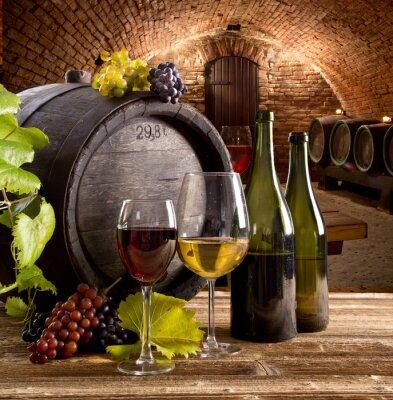 Affisch Vin stilleben