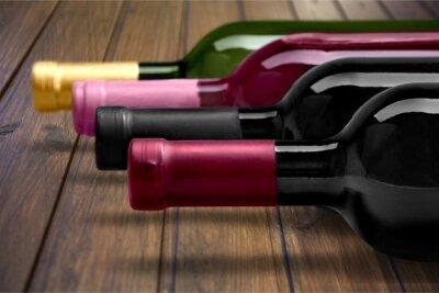 Affisch Vinflaska.