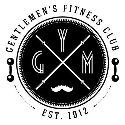 Affisch Vintage gym logo