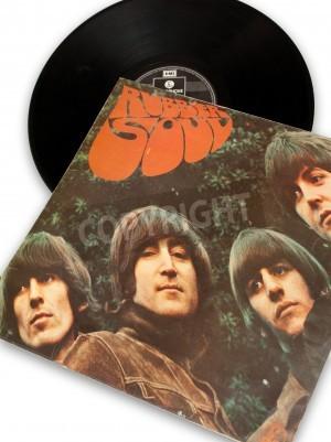 Affisch vintage original vinyl rekord av rockstar beatles gummi själ