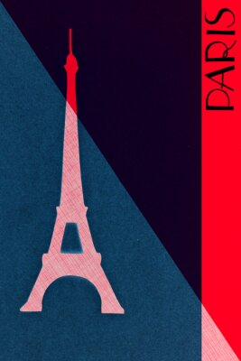 Affisch Vintage Paris post - kalligrafi - hand märkte konstruktions elemen