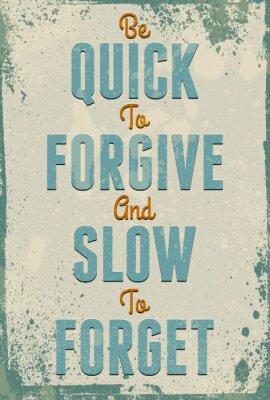 Affisch Vintage typografi vektor med grunge effekter.