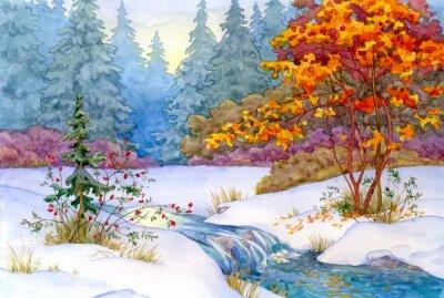 Affisch vinter Forest