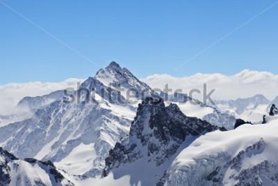 Affisch Vinterlandskap i Matterhorn