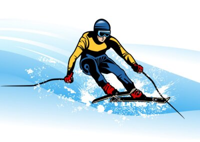Affisch vintersport