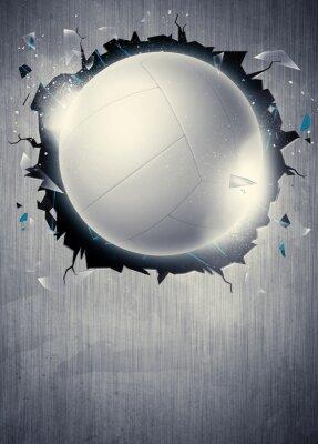 Affisch volleyboll bakgrund