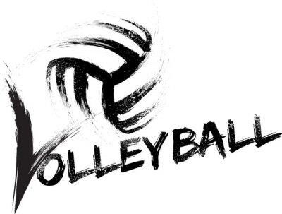 Affisch Volleyboll Grunge Ränder