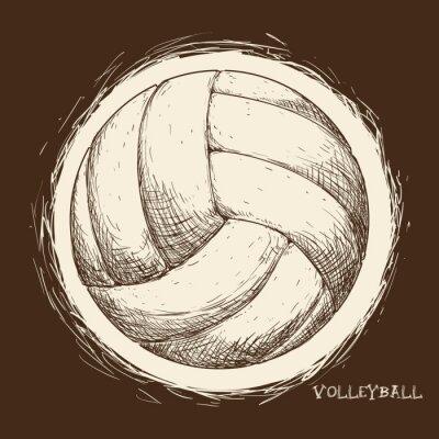 Affisch Volleyboll ikonen design