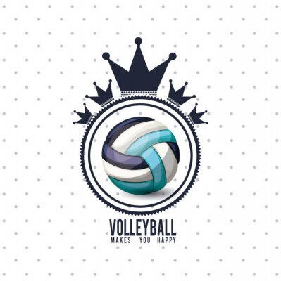 Affisch volleyboll ligan konstruktion