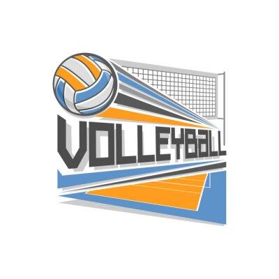 Affisch volleyboll logo